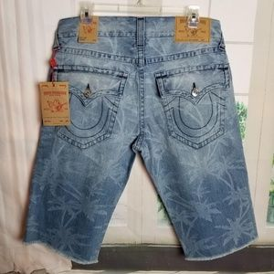 True Religion Straight Flap Cutoff Jean Shorts